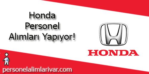 Honda Personel Alımı ve İş İlanları