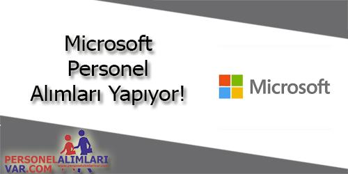 Microsoft Personel Alımı ve İş İlanları