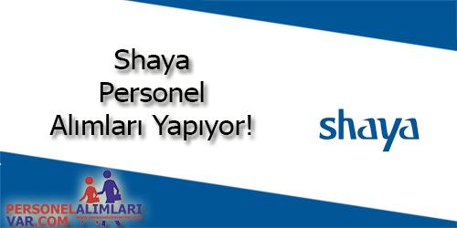 Shaya Personel Alımı ve İş İlanları