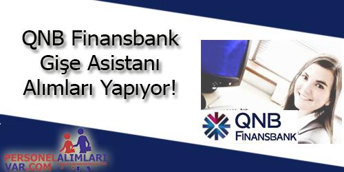 QNB Finansbank Gişe Yetkilisi Alımı